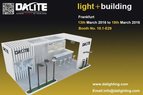 Dalite asiste a Light + Building (mar 2016), Frankfurt Alemania